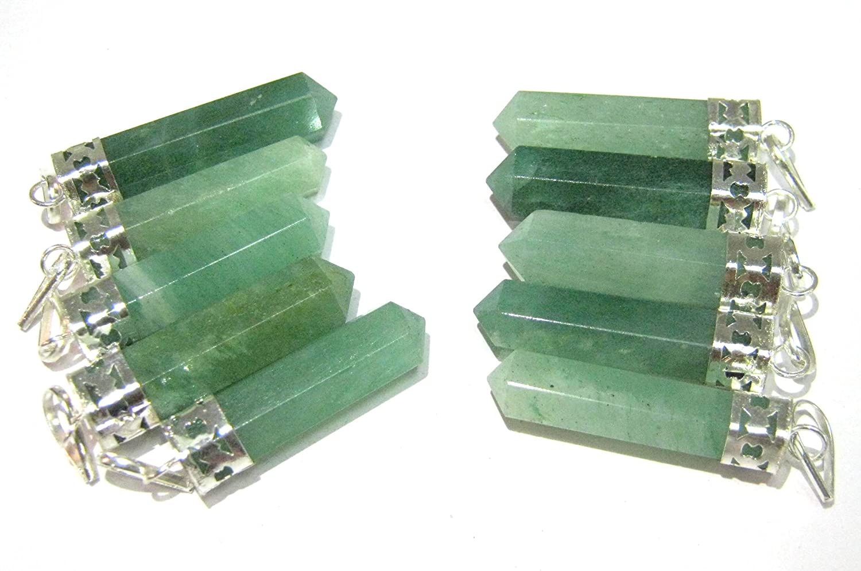 High Qualityl Green Aventurine Point Crystal Balance Meditation Stone for gifts