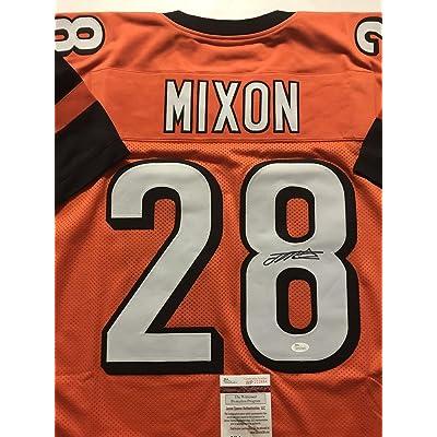 c50161e4f15 Autographed Signed Joe Mixon Cincinnati Bengals Orange Football Jersey JSA  COA