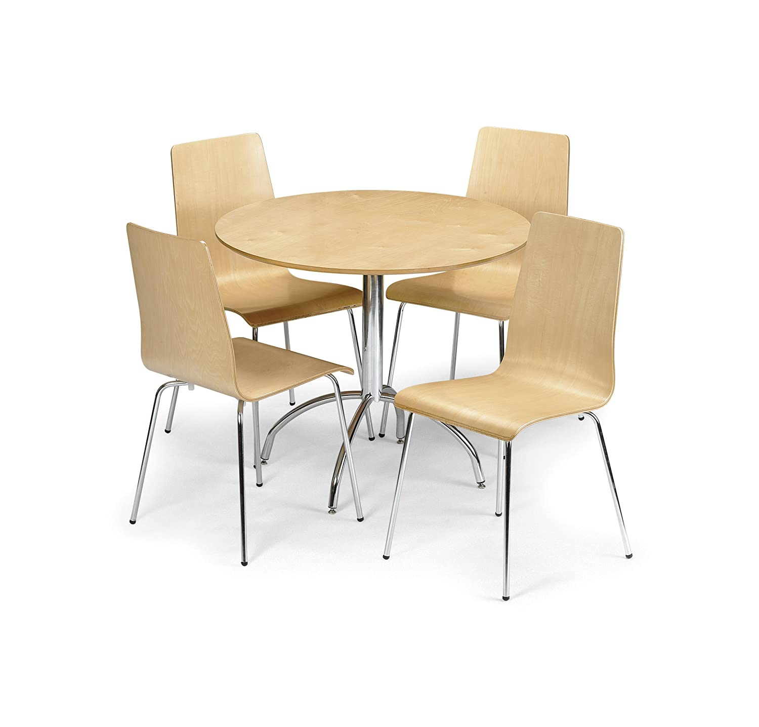 Julian Bowen Mandy Dining Table Set with 4 Chairs Maple Amazon