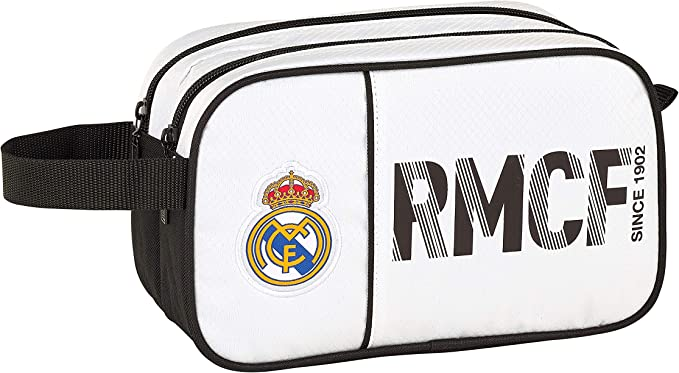 Real Madrid CF Neceser, Bolsa de Aseo Adaptable a Carro.: Amazon.es: Ropa y accesorios