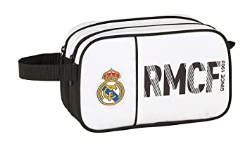 Real Madrid 811854518 2018 Bolsa de Aseo, 26 cm, Blanco