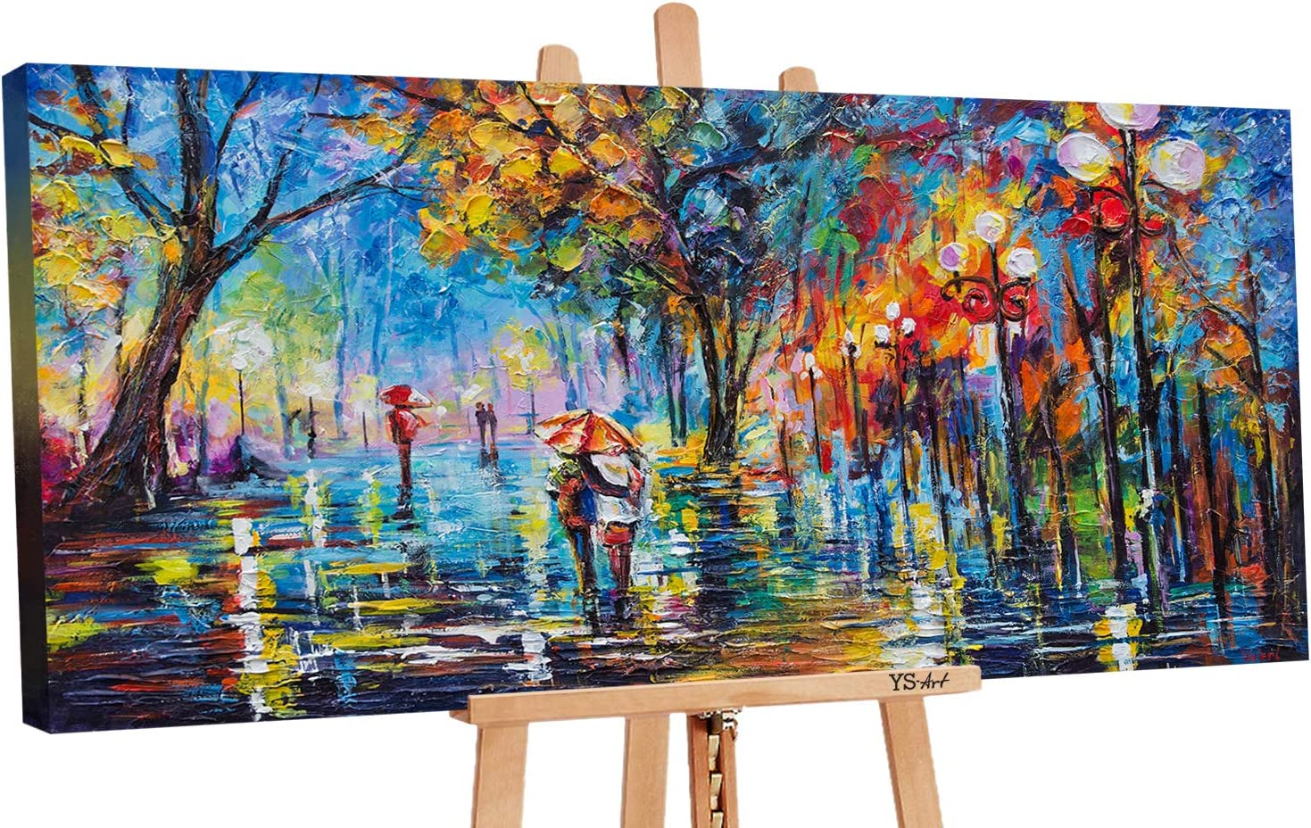 100/% Handgemalt Acryl Gemälde handgemaltes Wand Bild Kunst Leinwand Romanze