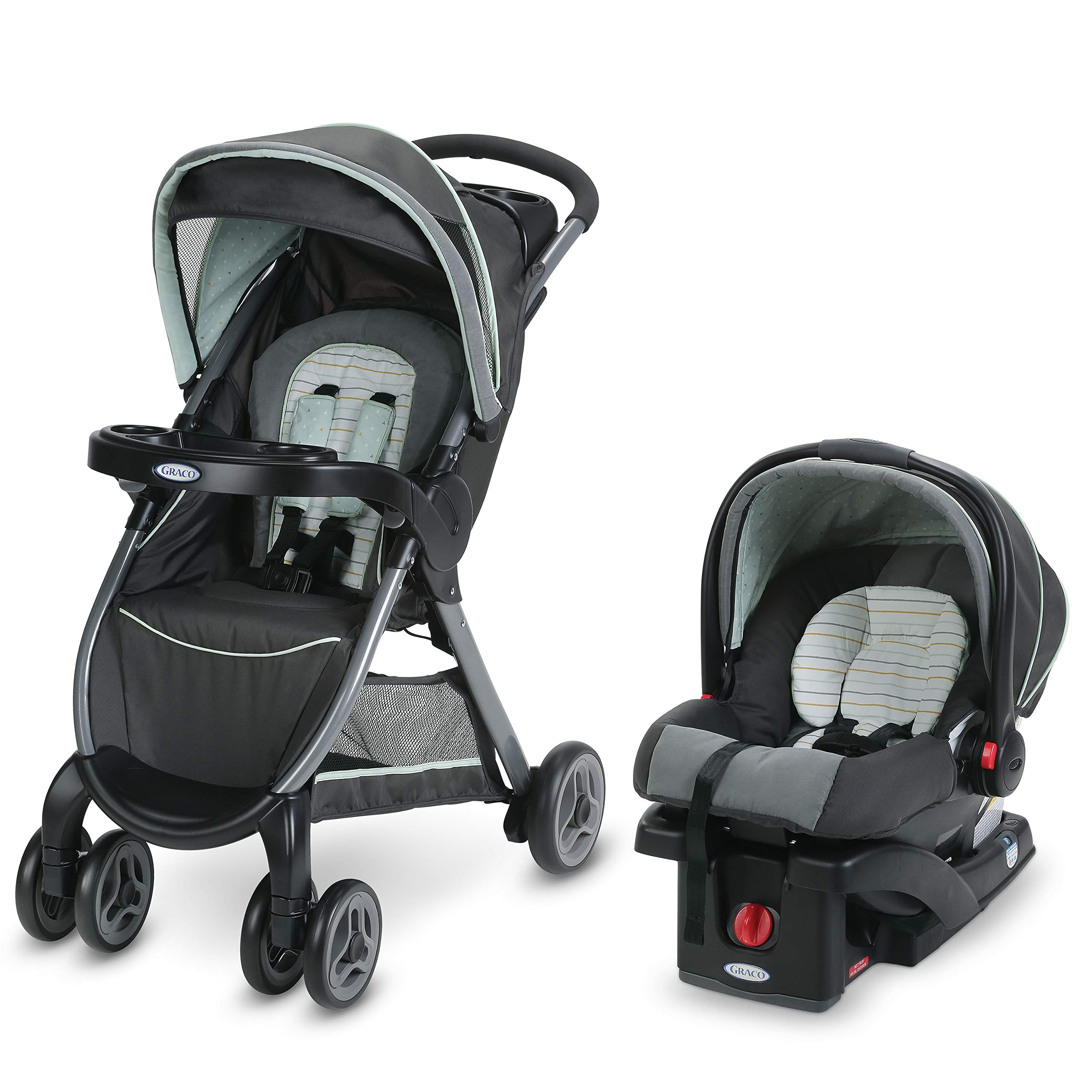 Graco FastAction Fold Travel System | Includes FastAction Fold Stroller and SnugRide 30 Infant Car Seat, Bennett by Graco