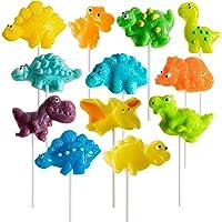 Prextex 恐龙棒糖派对喜爱恐龙糖 12 件装