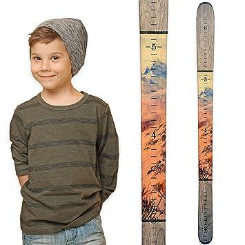 Amazon Growth Chart Art Ski Growth Chart Wooden Wall