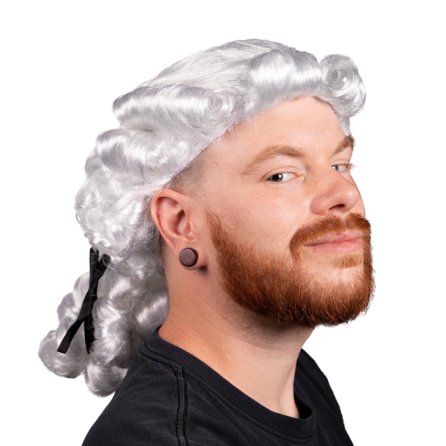 240a5a467ac5bc Amazon.com: Boo Inc. Colonial Powdered Wig   Adult Halloween Costume  Accessory: Clothing
