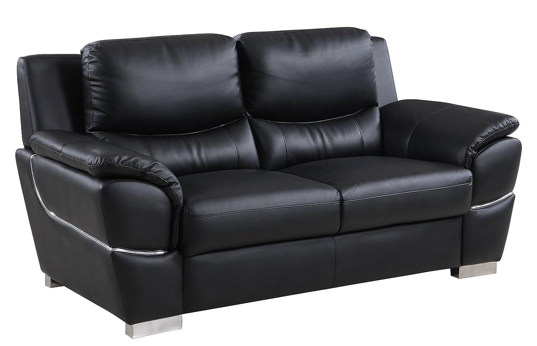 Amazon com blackjack furniture 4572 black l loveseat leather match den black kitchen dining
