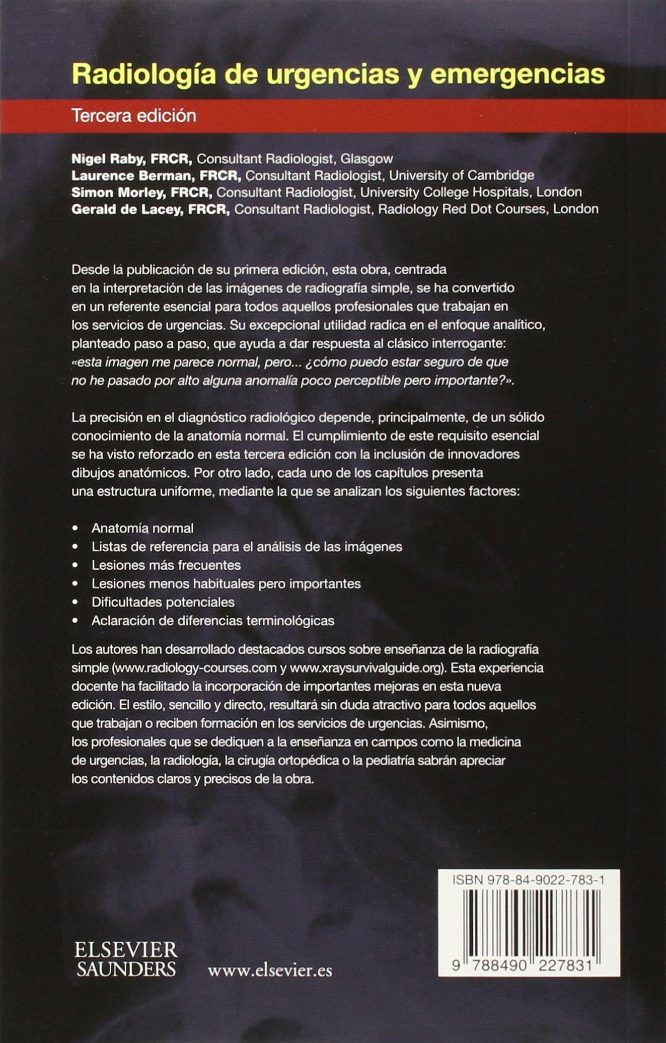 Radiologia de urgencias y emergencias (Spanish Edition): N. Raby ...