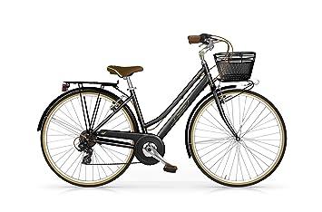 MBM Boulevard - Bicicleta de Paseo para Mujer de 6 velocidades, Cuadro de Aluminio Talla