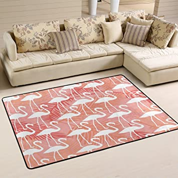 Amazon.com : Andrew Brown Pink Flamingo Area Rug Rugs Mat for Living ...