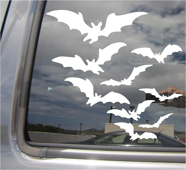 Flying Bats Auto Window Wall Vinyl Decal Sticker 01058 Halloween Vampire