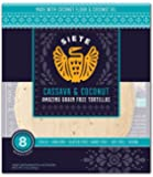 Siete Cassava & Coconut Flour Tortillas, Paleo Approved, 8 count (2 Pack - 16 Tortillas)