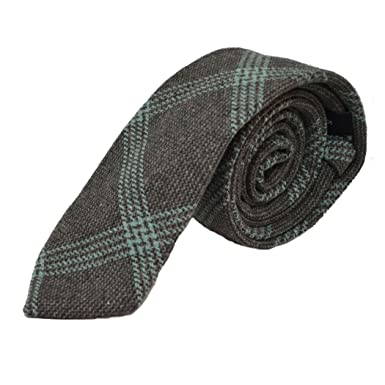 e99c476e9b47 Slate Grey & Blue Birdseye Weave Check Tie: Amazon.co.uk: Clothing