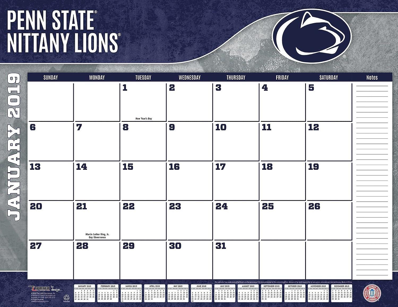 Penn Calendar.Turner 1 Sport Penn State Nittany Lions 2019 22x17 Desk Calendar Office Desk Pad Calendar 19998061487