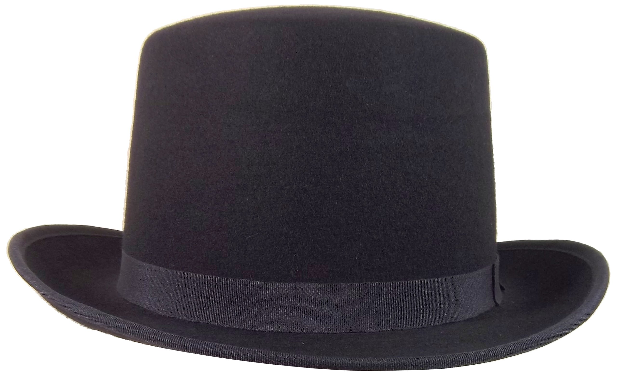 Jacobson Hat Company Wool Felt Top 5.75 Inch Tall, Black, Large/X-Large