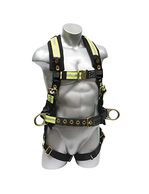 Medium Elk River 67102 Polyester//Nylon Raven Platinum Series 1 D-Ring Harness with Quick-Connect Buckles
