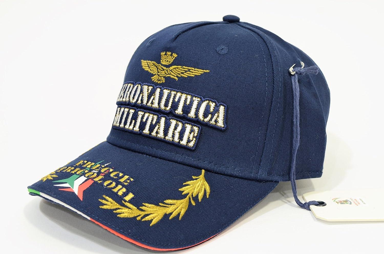 Aeronautica Militare Cappellino baseball regolabile BLU HA982CT FRECCE  TRICOLORE  Amazon.it  Abbigliamento 6a226351326b