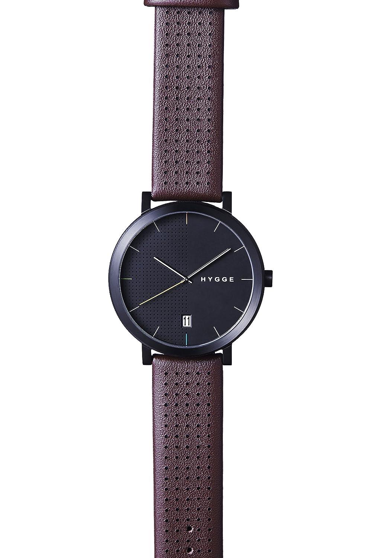 Hygge Unisex-Armbanduhr 2203 Analog Leder Rot MSL2203BC(BO)