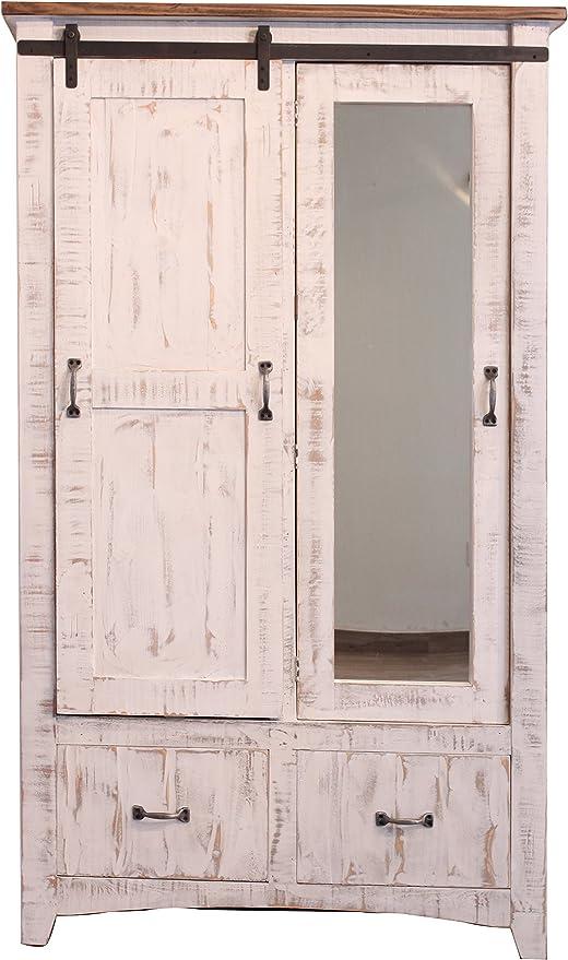 Anton - Armario para puerta corredera de madera maciza resistente ...