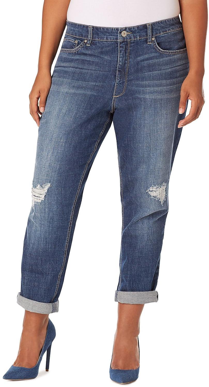 b36ad4a5 Vintage America Blues Plus Size Gratia Distressed Boyfriend Jeans delicate