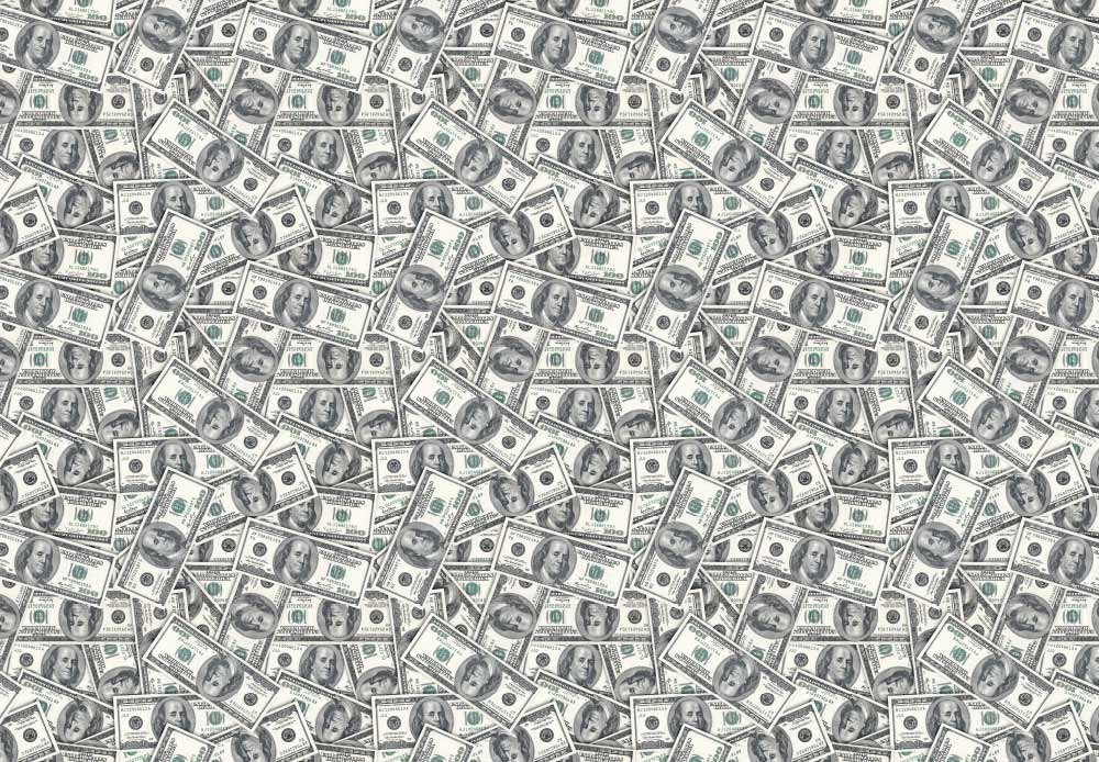 wall26 - 100 Dollar Bills Collage Background - Large Money Wall Mural, Removable Peel and Stick Wallpaper, Home Decor - 100x144 inches by wall26 (Image #3)