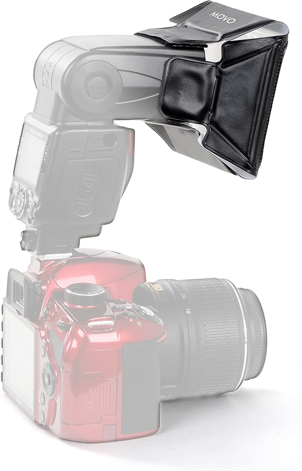 Movo Photo SB16 Universal Mini Softbox Flash Diffuser with 6 Color Gel Kit for External Camera Flashes Size: 9cm X 12cm