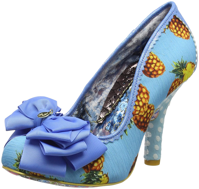 Blau (Blau Multi) Irregular Choice Damen Ascot Pumps, Schwarz