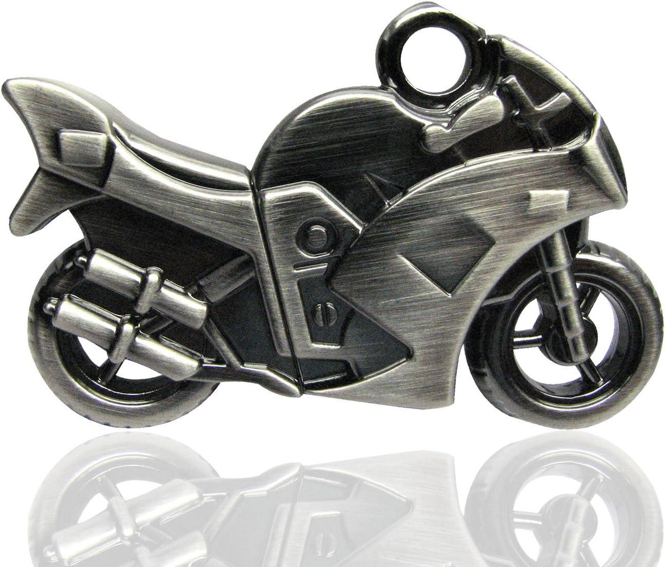 Tienda 818 no2040007 USB Stick Metal Moto 3D Plata Plateado Plata ...