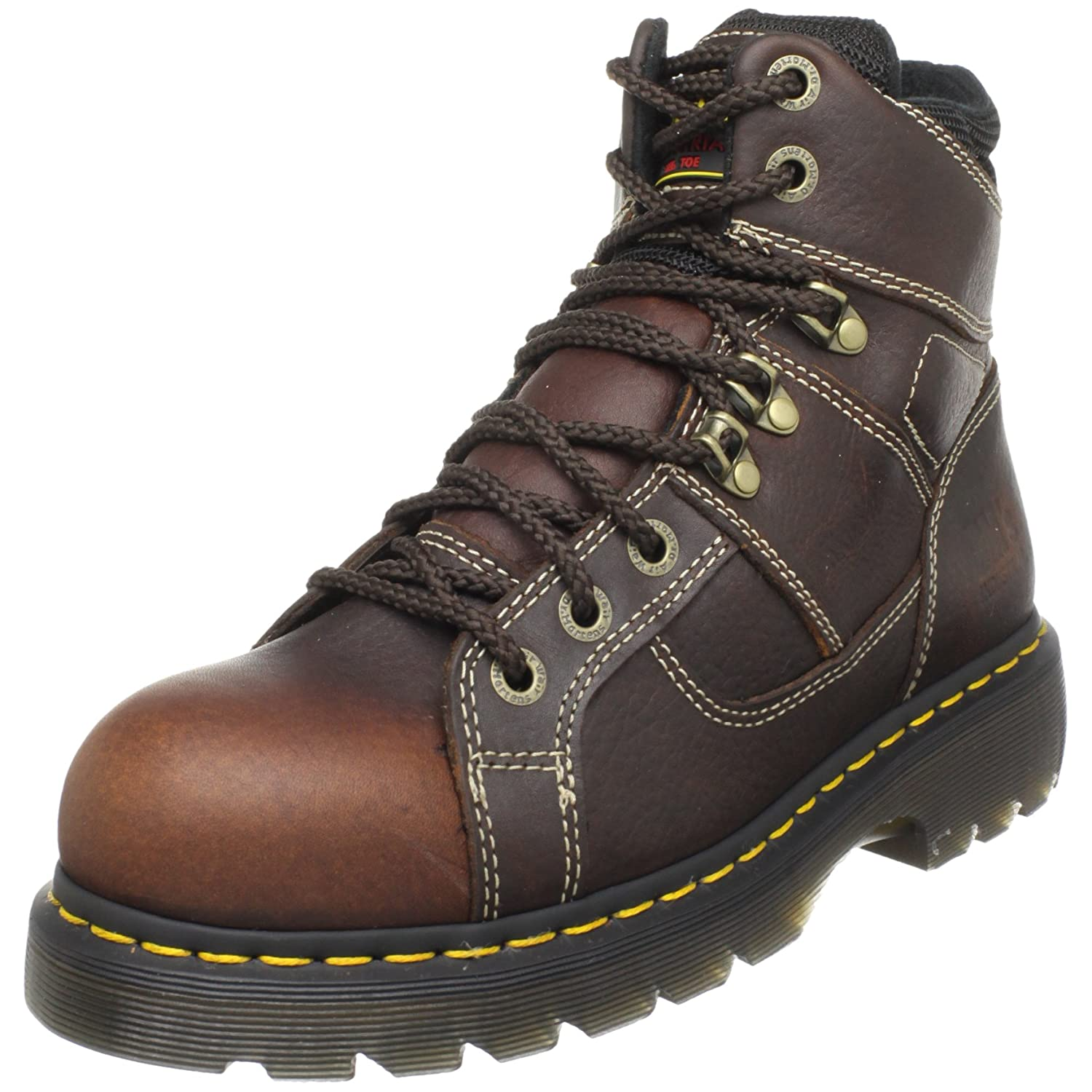Dr. Martens Ironbridge Safety Toe Boot B001J4BM80 4 UK/6 M US Women's/5 M US Men's|Teak