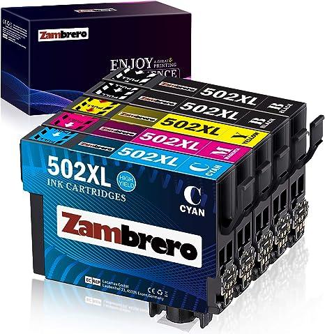 Zambrero 502XL Cartuchos de Tinta Reemplazo para Epson 502 Tinta ...