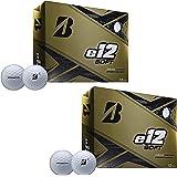 Bridgestone Golf Series e12 Soft 3-Piece Distance Golf Balls, White (2 Dozen)