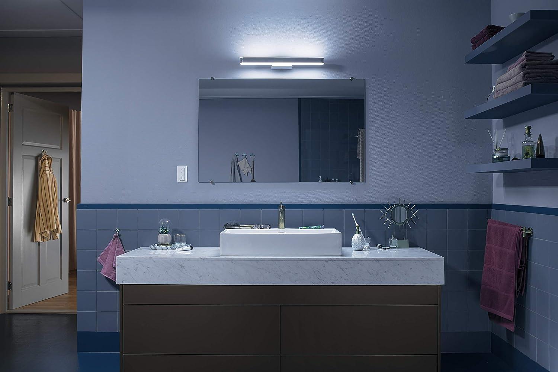 Philips Hue Adore - Luz para espejo / aplique LED inteligente para baño con  mando, luz regulable de blanca cálida (16K) a fría (16K), iluminación