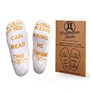 If You Can Read This Bring Me Wine, Beer, Coffee, Chocolate & Champagne Socks
