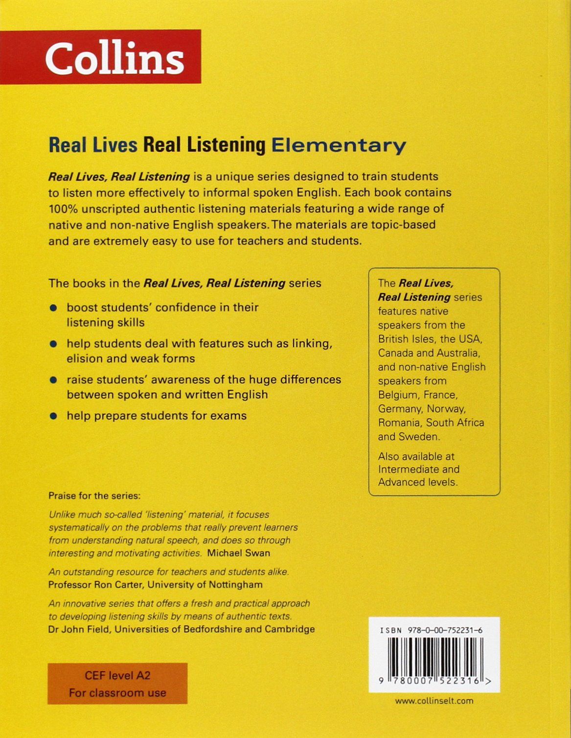 Real Lives Real. Real Listening. Elementary Level A2 Real ...
