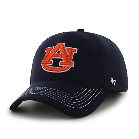 huge discount 970d1 571c1 Amazon.com   NCAA Auburn Tigers  47 Brand Game Time Closer Stretch Fit Hat,  Navy, One Size   Clothing
