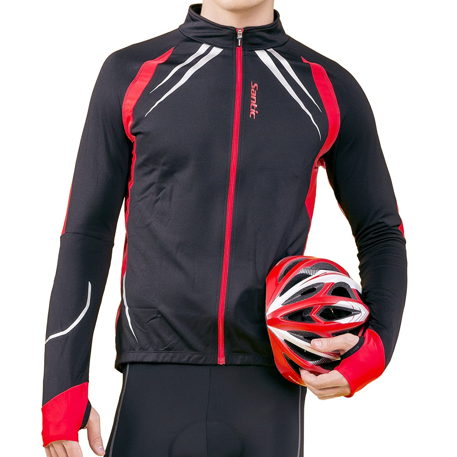 Amazon.com : SANTIC Cycling Fleece Thermal Long Jersey Winter ...