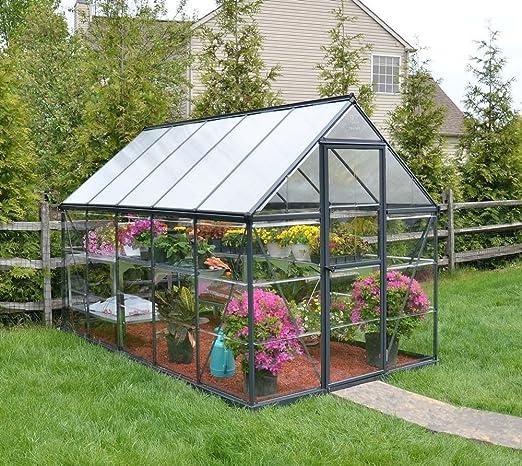 Palram Aluminium Gewachshaus Gartenhaus Hybrid 6x10 Anthrazit