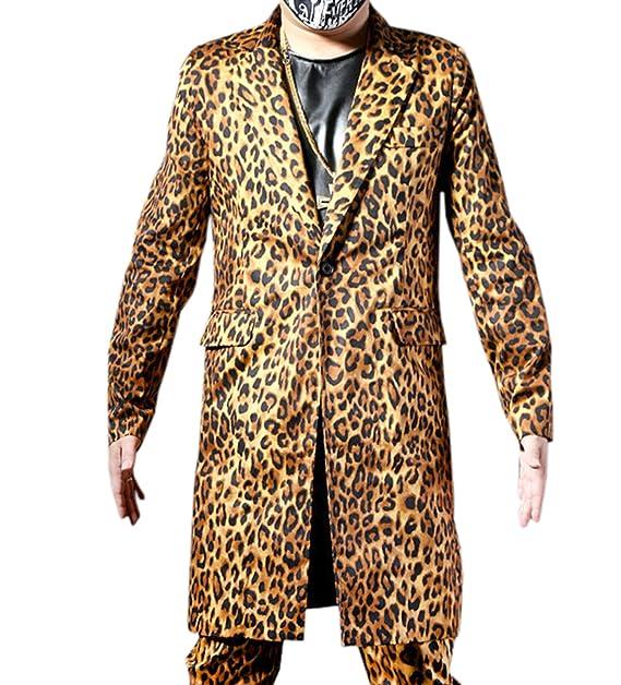 Amazon.com: mokewen para hombre leopardo 1 botón 2 piezas ...