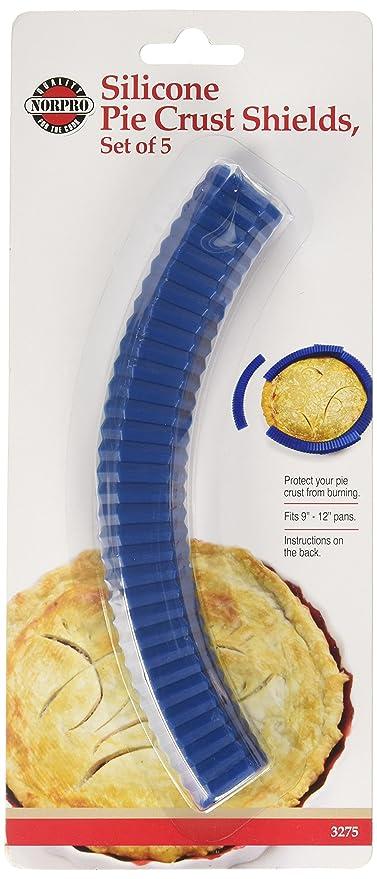 Norpro 3275 Silicone Pie Crust Shields, 5-Piece