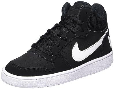 best sneakers 12472 f31ab Nike Court Borough Mid (GS), Baskets Hautes garçon, Noir (Black
