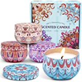 Scented Candles Aromatherapy Small Jar Candles Gift Set for Women, Natural Soy Wax Candle for Mother's Day, Wedding, Spa, Bat