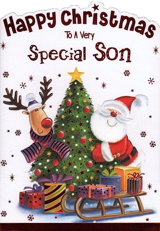 Hijo Tarjeta de Navidad - feliz Navidad a un muy especial hijo ...