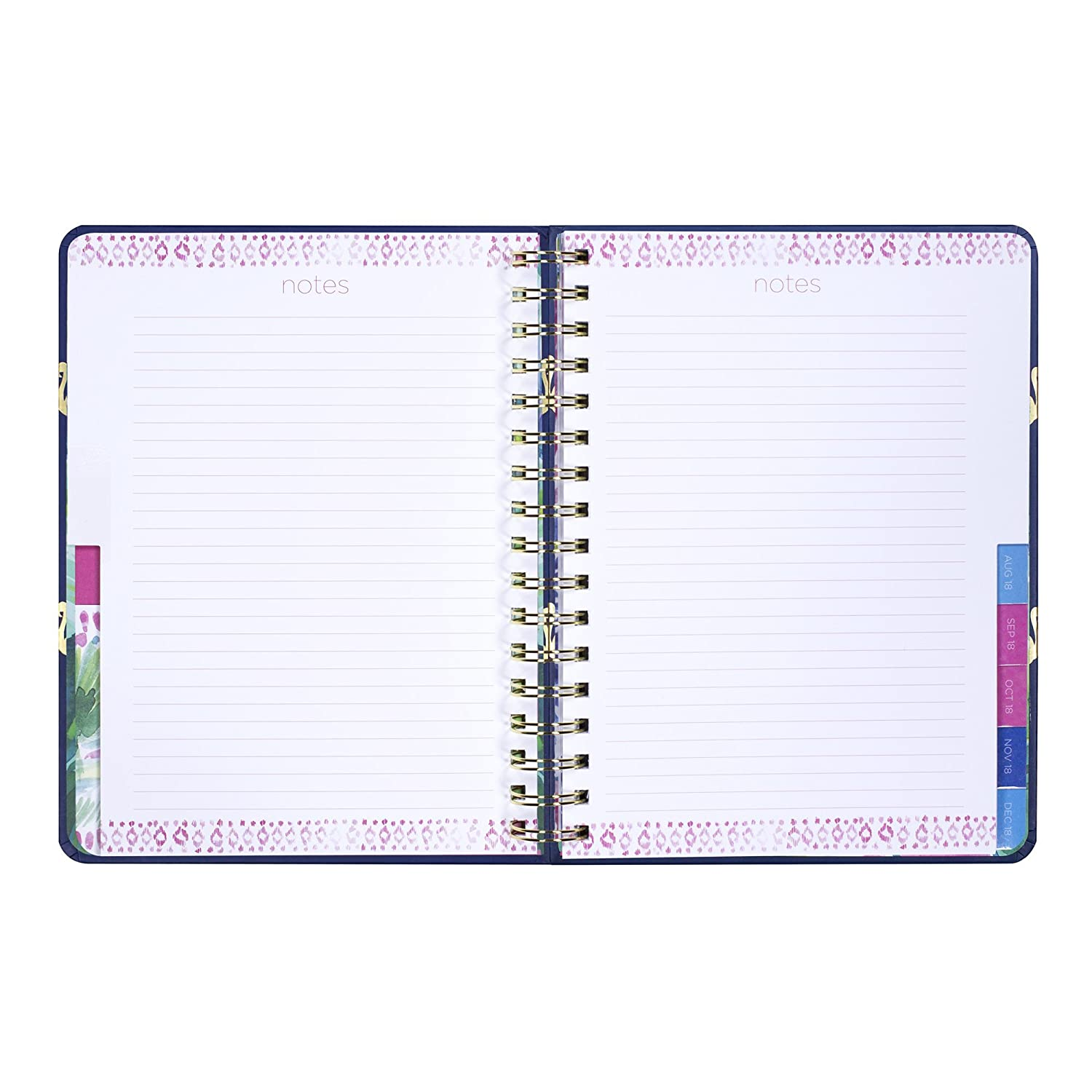 a2afd87726a111 Amazon.com : Lilly Pulitzer 17 Month Large Hardcover Agenda, Personal  Planner, 2018-2019 (Navy Flamingo) : Office Products