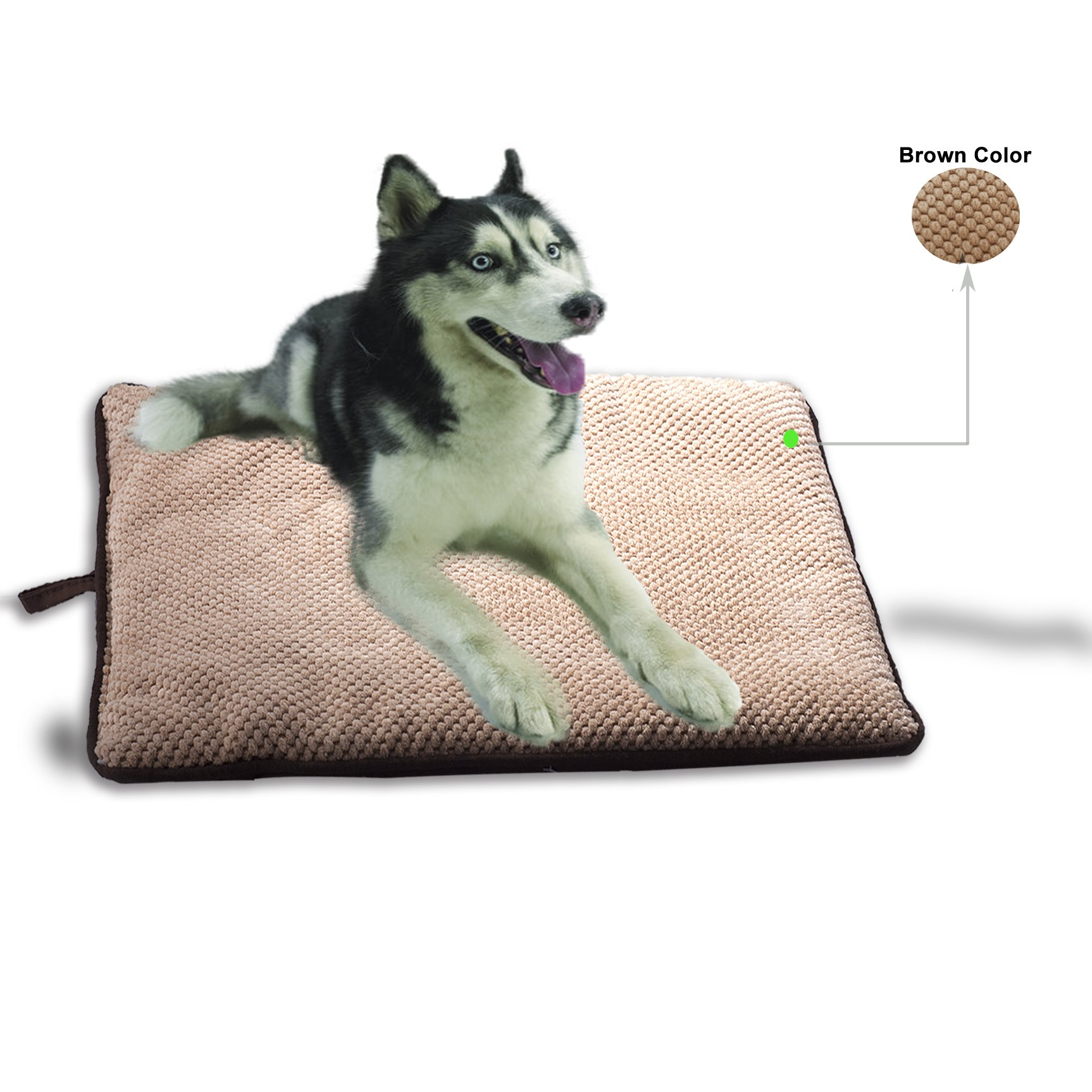 PAWISE Dog Bed Cat Bed Dog Mat Cushion Waterproof for Crate Outdoor Car Mat Machine Wash (Large-New) by PAWISE