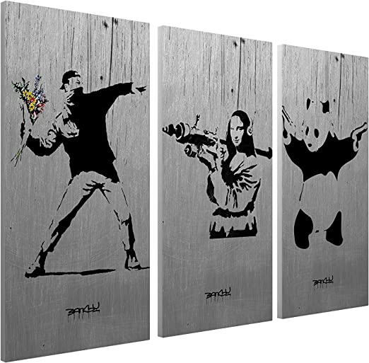 street mona lisa wall decor graffiti art painting custom canvas banksy Australia