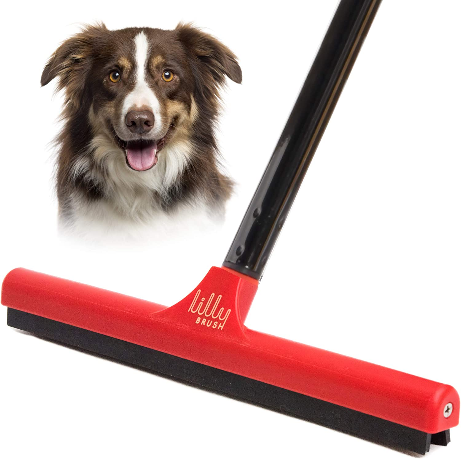 Amazon Com Lilly Brush Mighty Pet Hair Detailer With 52 Sturdy Steel Handle For Removing Dog Hair And Cat Hair From Carpets And Rugs Kitchen Dining