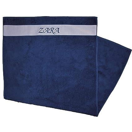 Toalla de ducha Impreso con nombres Zara Azul