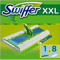 Swiffer Starter Kit XXL Scopa con 1 Manico con 8 Panni di Ricambio