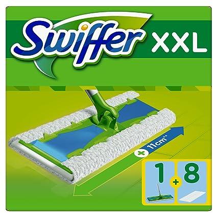 Swiffer XXL Mopa & Completo de Sistema de Limpieza Plus 8 Suelo paños de Polvo