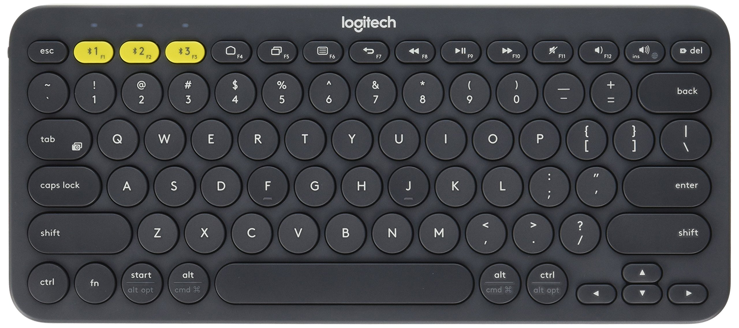 Logitech K380 Multi-Device Bluetooth Keyboard - Windows, Mac, Chrome OS, Android, iPad, iPhone, Apple TV Compatible - with FLOW Cross-Computer Control and Easy-Switch up to 3 Devices - Dark Grey by Logitech